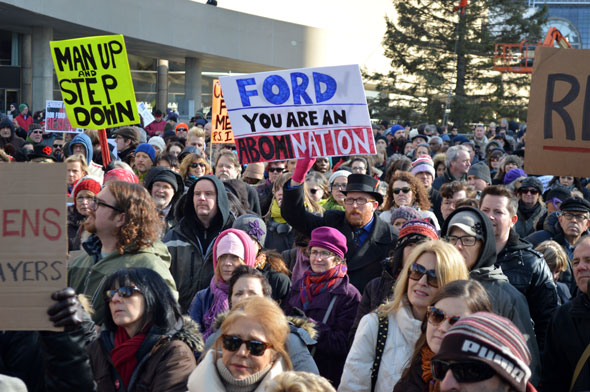 rob ford protest