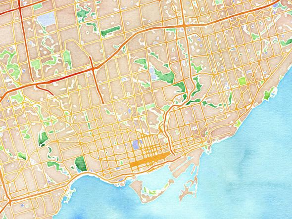 Pretty Map Toronto
