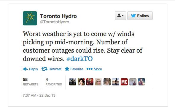 Toronto Hydro Ice Storm