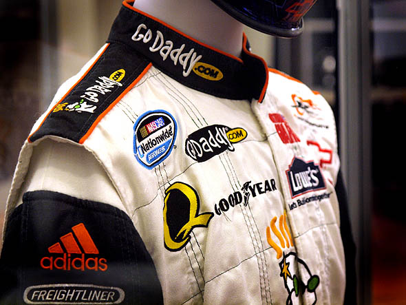 Ron Fellows race suit