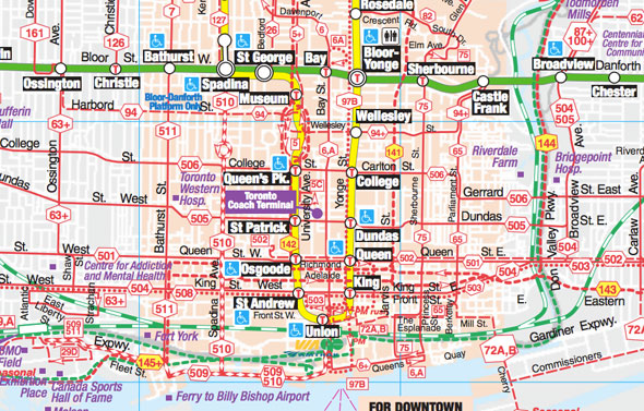 ttc transit map