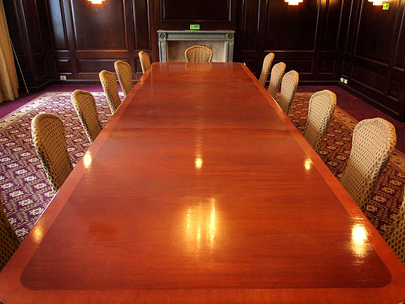 Boardroom table at the Sutton Place