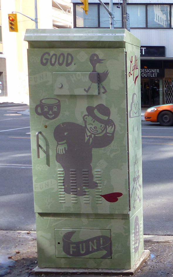 Toronto graffiti wrap traffic box