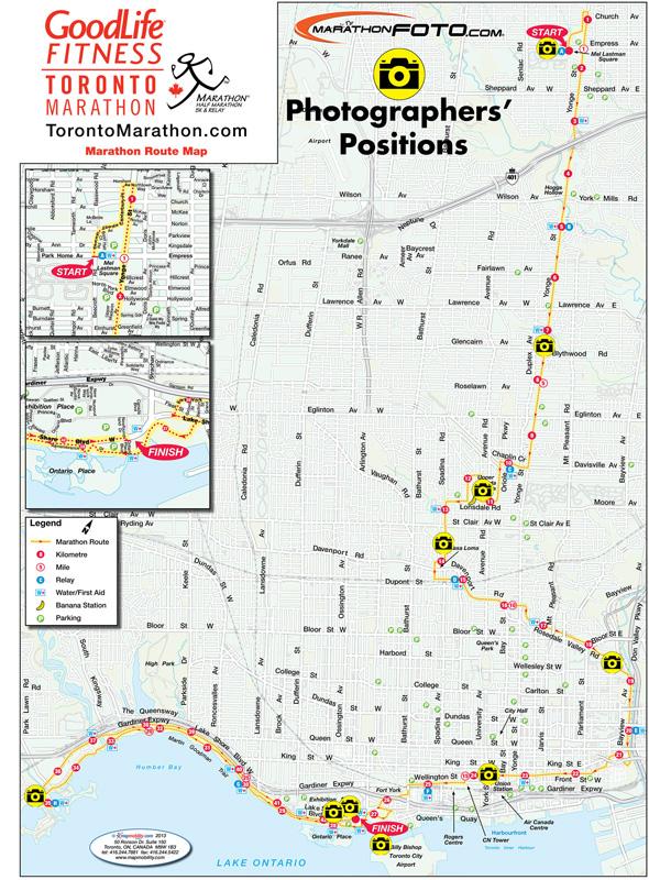 Toronto Marathon road closures