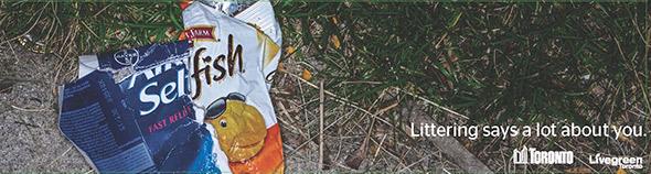 anti litter ad toronto