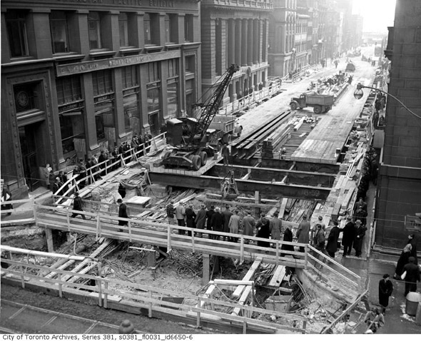 subway construction toronto