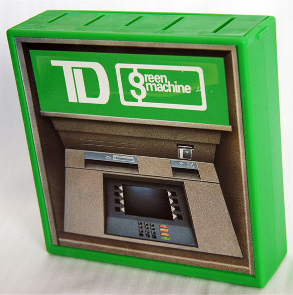 TD bank machine green