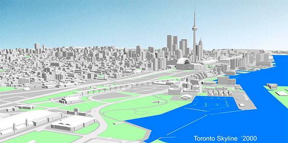 Toronto skyline 2000