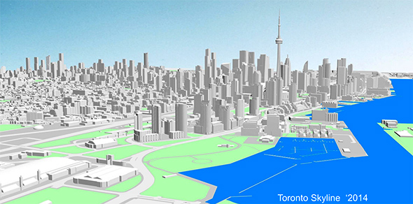 A Comparison Of The Toronto Skyline From 2000 To 2014