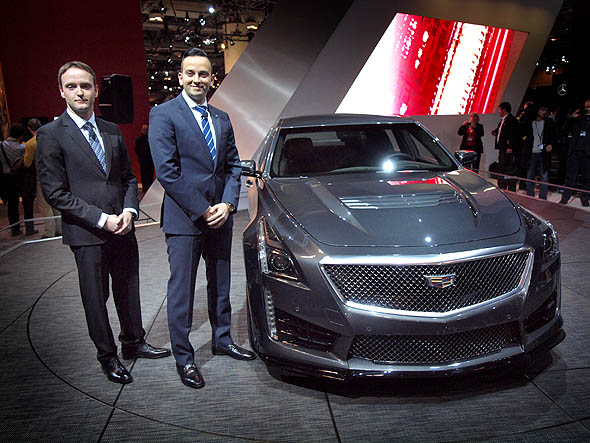 Cadillac CTS-V with Cadillac executives at the CIAS