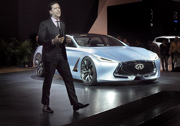 Infiniti Q80 concept presentation at CIAS