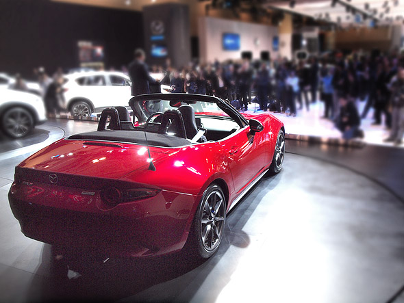 The new Mazda Miata at CIAS 2015