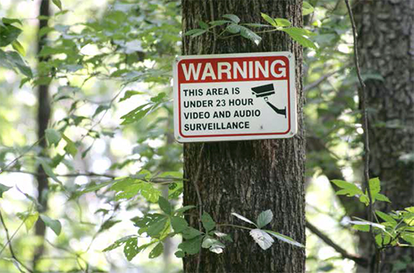this area under 23 hour video and audio surveillance
