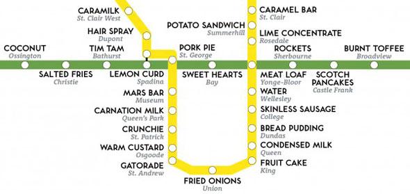 toronto ttc taste map