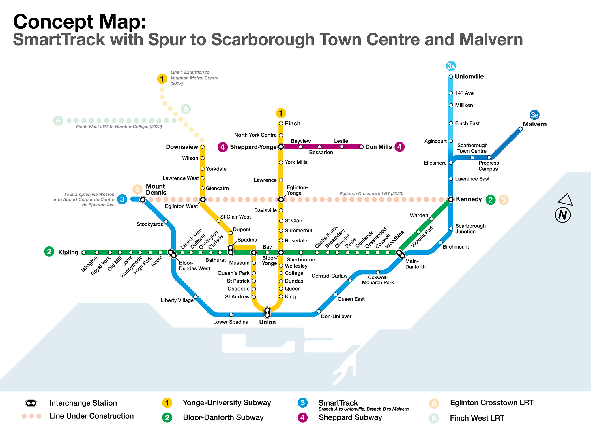 Smart Track Map Is this the solution to the Scarborough transit debate?