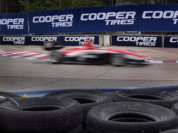 Racing at Honda Indy Toronto