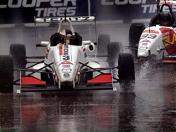 Racing in the rain at Honda Indy Toronto
