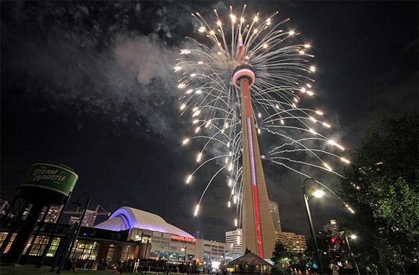 cn tower fireworks