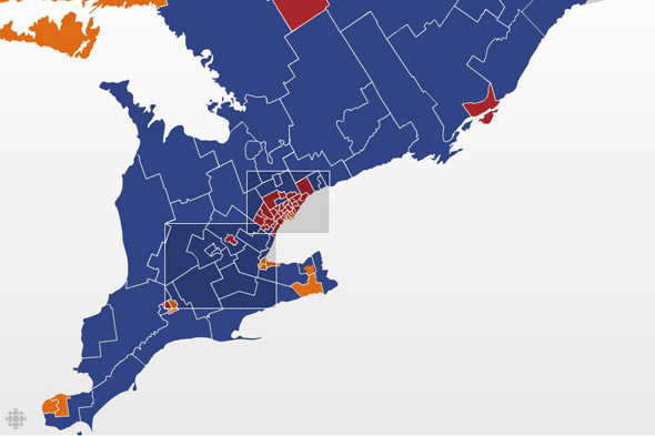 federal election results southern ontario 2008