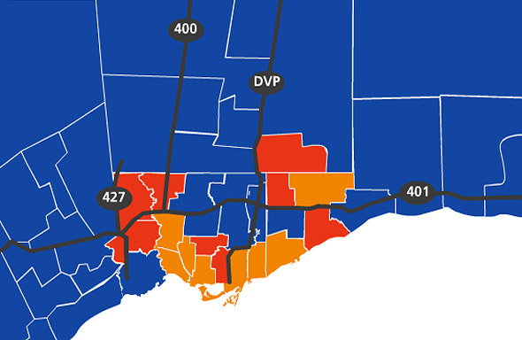 federal election results toronto 2011