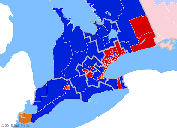 federal election results southern ontario 2015