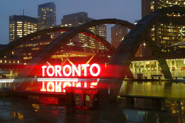 toronto sign red