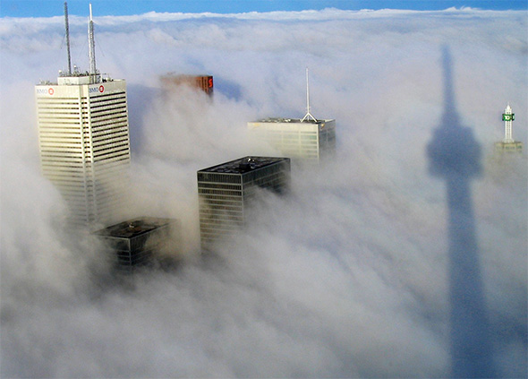 toronto above clouds