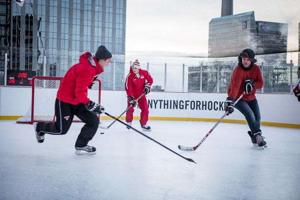 Rooftop rink Toronto