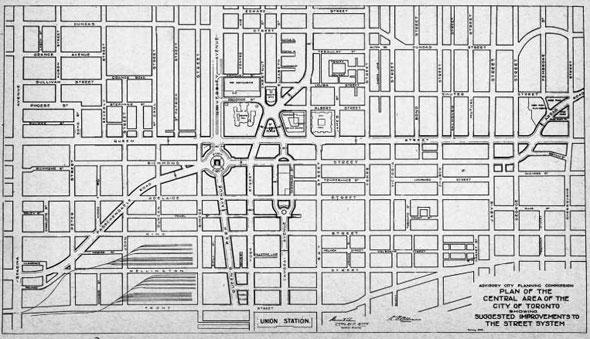 proposed toronto street map 1930