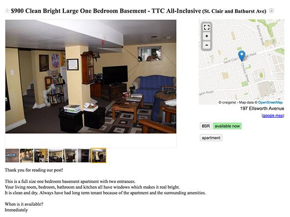 900 dollar apartment