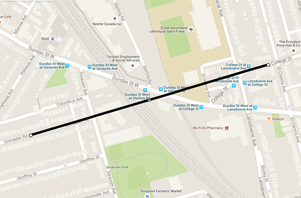 College Street extension Toronto