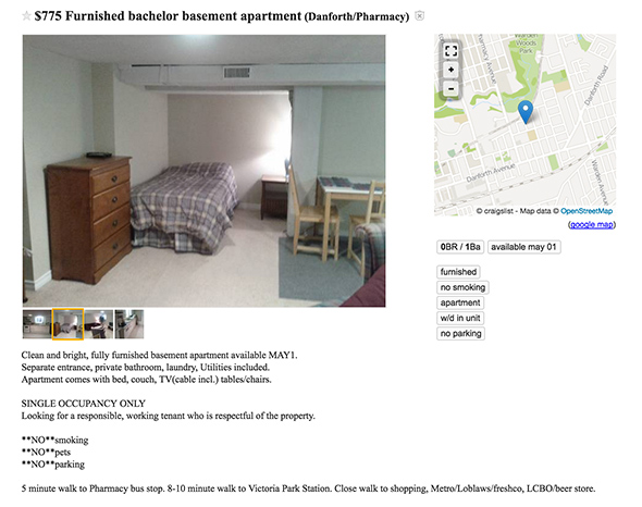750 apartment toronto
