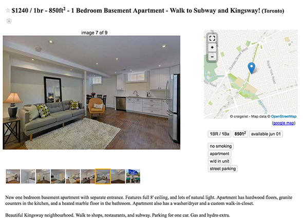 1250 apartment toronto