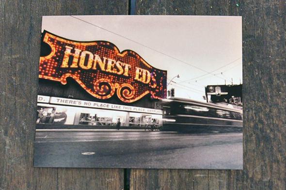Honest Eds postcard