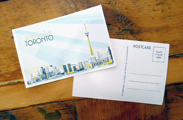 toronto postcard kid icarus