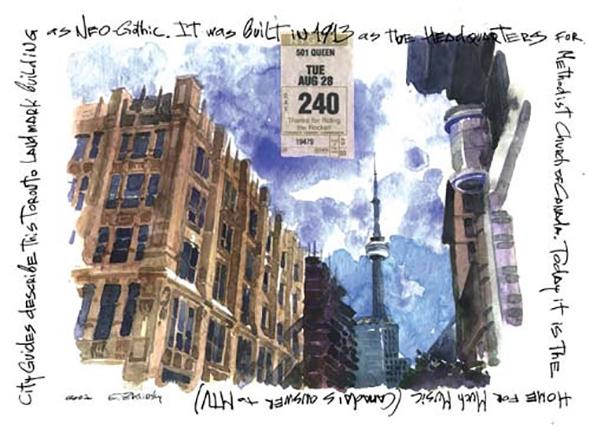 toronto postcard queen street