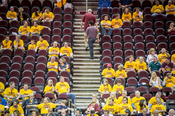empty seats cavaliers game