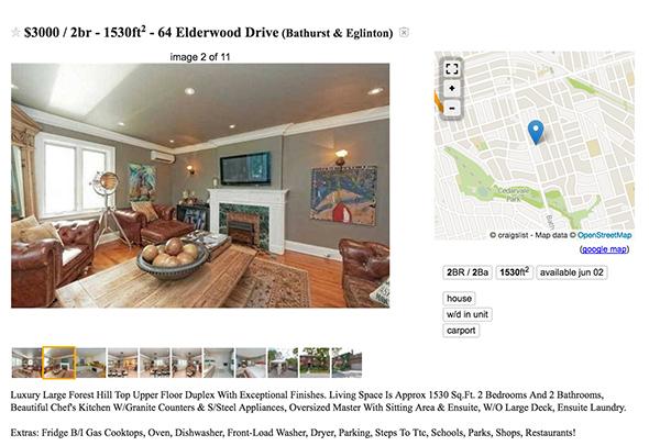 3000 dollar apartment toronto