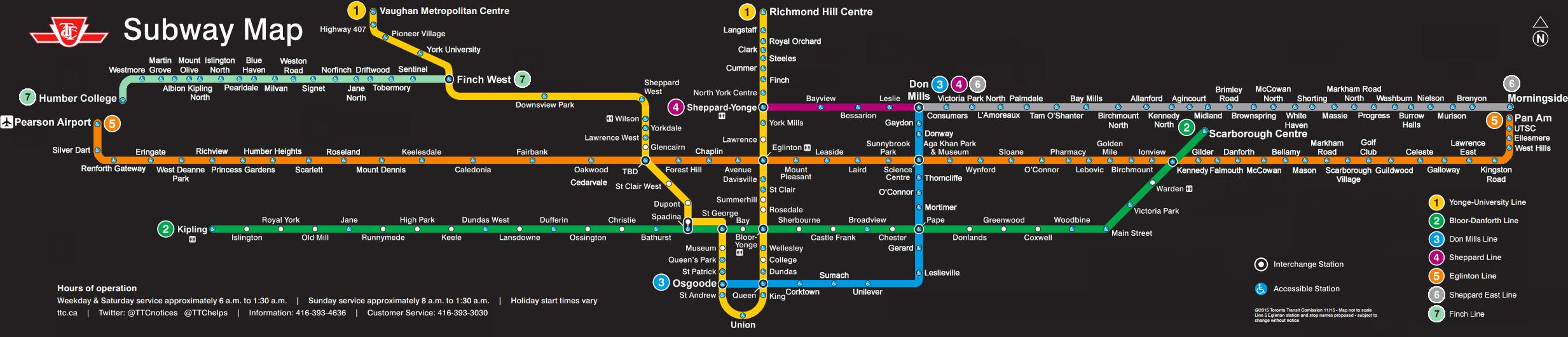 Ttc Transit Map This is what the TTC map could look like in 2035