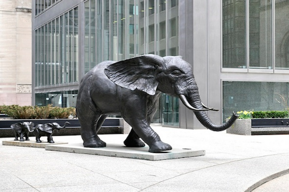 Tembo elephant statue toronto