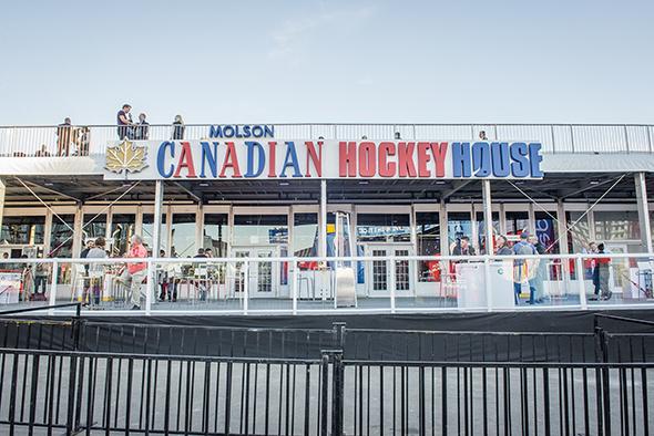 NHL fan village toronto