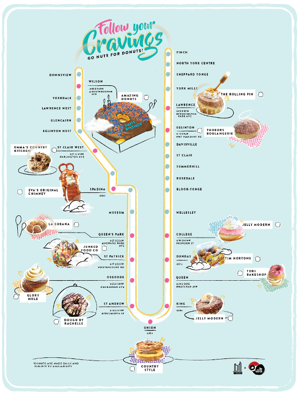 donut map toronto