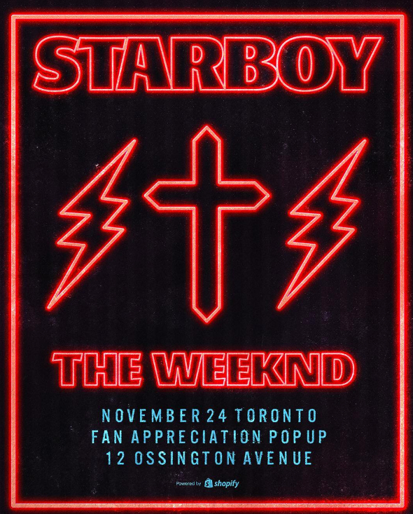 weeknd starboy pop up toronto
