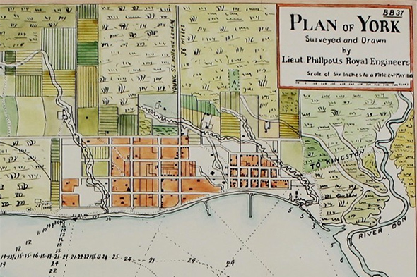 1818 plan of york